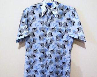 Vintage Men's Deco / Disco / Mod / South Beach Shirt