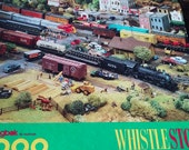 Jig saw puzzle Springbok by Hallmark. WHISTLE STOP