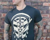 men's organic cotton Grim Pharaoh tee sizes s, m, xl