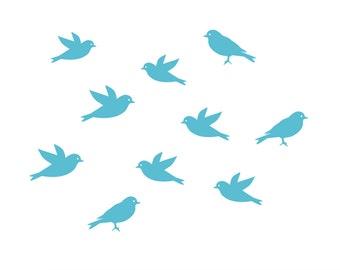Set of 10 birds