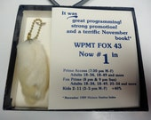 Unusually weird unPC 1989 FOX Broadcasting rabbits foot keychain TV promotional gift