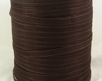 "BULK - Organza Ribbon - 1/4"" thick (6mm) - 500 yards - Chocolate"