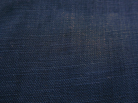 Linen Fabric - Japanese Fabric By The Yard - Indigo - Large Fat Quarter