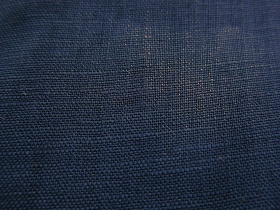 Linen Fabric - Japanese Fabric By The Yard - Indigo - Large Fat Quarter