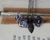 The Violet Necklace. Woodland Bohemian Romantic Whimsical Czech Glass Flower Cluster Necklace.