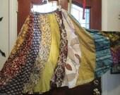 Prairie gypsy   skirt gored swirl fun skirt small prints size Small, Medium , Large, Xlarge  Plus size 1XL, 2XL,3XL, 4XL up to 60'' waist