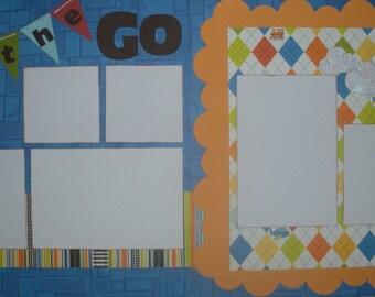 On the Go Scrapbook Layout Kit, Layout Kit, Scrapbook Layout, Scrapbooking Kit