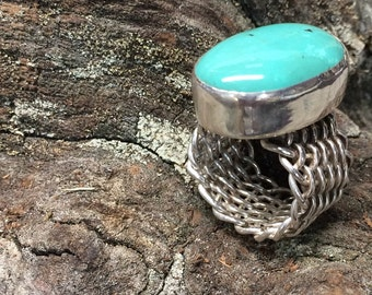 Woven Turquoise Ring