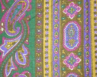 2 + yards 44 wide  paisley cotton vertical  print dress quilt fabric