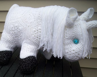 Crochet Pony-Horse-Fatty Lumpkin-Unicorn