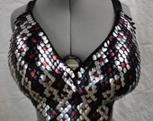 Scalemail Reptile Belly Dance Bra custom for W.