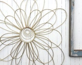 Metal Wall Flowers, Floral Metal Wall Art,Metal Wall Decor, Flower Wall Decor, Mid Century Modern