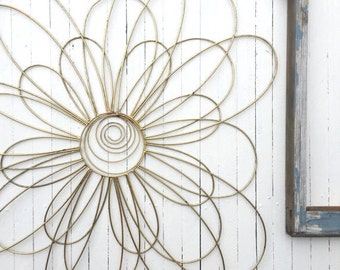 Metal Wall Flowers, Floral Metal Wall Art,Metal Wall Decor, Flower Wall Decor, Mid Century Modern