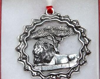 African Lion Ornament - Lion Ornament - Exotic Cat Ornament - Cecil the Lion