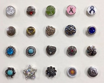 Set of 2 Chunk Snaps 18mm - 20mm Size Button Snaps Choose from 30 Designs, Noosa Snaps, Ginger Snaps, Pick 2