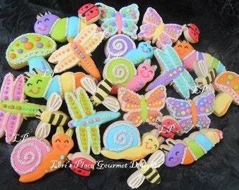 Garden Friend Cookies - Garden Critter Cookies - 28 Cookies