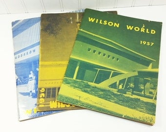 Wilson World Woodrow Wilson Jr High School Glendale California 1956-1958 Year Books