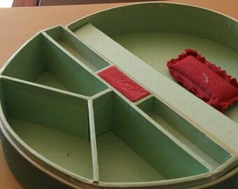 Paper Demi Lune Sewing Box