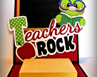 Teacher Post It Note card gift scrapbook Paper Piecing Handmade Premade Elite4u