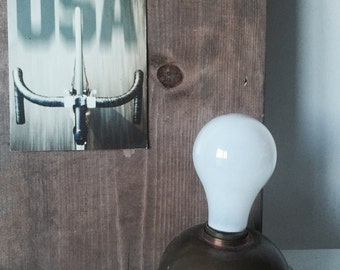 Vintage mid century industrial light desk lamp