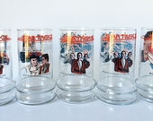 Vintage Set of Five Taco Bell Star Trek Glassware, Juice Glasses,  Drinking Glasses Paramount Pictures Corp. 1984 Mr. Spock