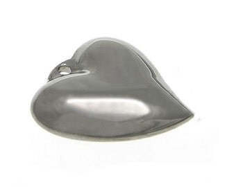 Stainless Steel Heart Pendant Bead x 3