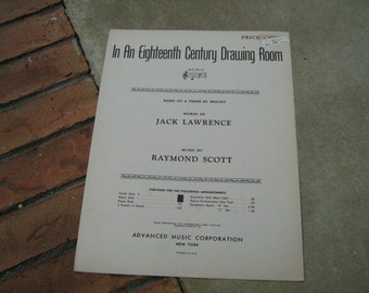 1939  vintage sheet music ( in an eighteenth century drawing room  )