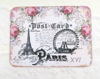 Blank Note Cards, Ferris Wheel Note Cards,Paris Eiffel Tower Notes, Paris Vintage,French Notes,Carte Postale,Birthday,High Tea,Thank You,