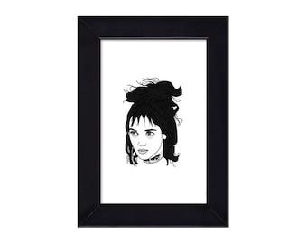 4 x 6 Lydia Deetz / Winona Ryder / Beetlejuice portrait