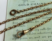 CUSTOM ORDER HB Vintage Pocket Watch Chain Smaller Oval Links Dog Clasp 12K Gold Filled