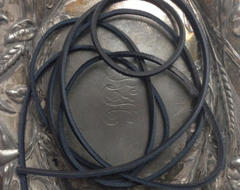 Black Leather Lacing- 72 inches
