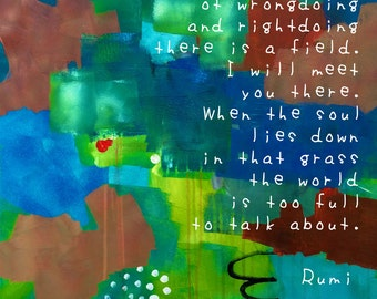 Inspirational quote|| RUMI || cooperation, friendship, peace, harmony, togetherness, love