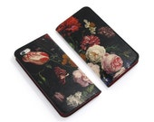 Leather iPhone 6 case, iPhone 6s Case, iPhone 6s Plus Case - Floral Bliss Folio Style