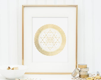 Sacred Geometry - Sri Yantra - Gold