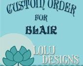 Custom Planner Order for Blair