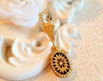 Art Deco Necklace - Art Deco Jewelry - Starburst Necklace - Victorian Necklace - JAZZ AGE