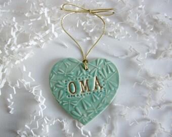 Christmas gift for, Nana, Gigi, Oma, Papa, Nonna, Mimi,  ceramics and pottery