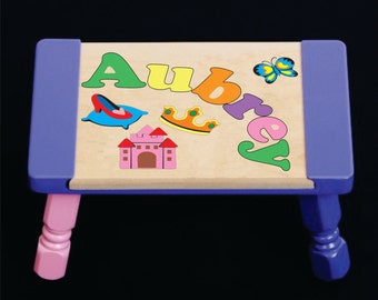Puzzle Step Stool Etsy