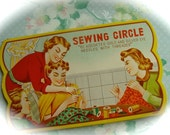 Sewing Circle Gold Eye Needles Antique Needle Book N0 119
