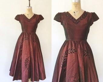 1950s party dress / velvet evening dress / Trouvaille Party dress