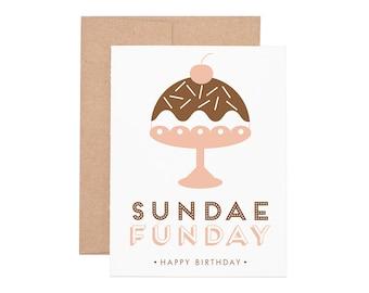 Boxed Cards - Sundae Funday Birthday Letterpress Greeting Cards - Boxed Set | Birthday Cards | Happy Birthday