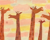 Giraffes with High-pitched Laughs