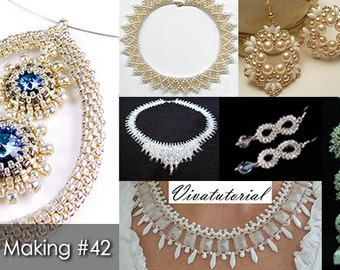 Bridal Jewelry Beading Patterns & Tutorials, Wedding Jewelry Tutorials, DIY Jewelry Making Magazine #42