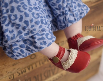 Red Baby Girl Shoes in Lucy Maryjane style