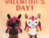 Llamas Valentine's Day Card