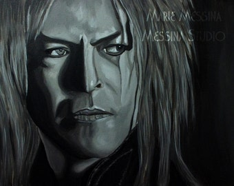 "13"" x 23"" Fine Art Print of Jareth from The Labyrinth ""Within You"" david bowie gobling king giclee"