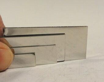 "Stainless Steel Strip,  Mirror Finish, .375""  3/8"" inch  wide  .040"" 18 gauge, sheet metal, Stainless Steel sheet, Fac"
