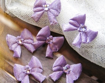 Purple Ribbon Bow - 12 pcs (Rib-F-001)