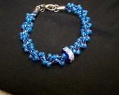 CLEARANCE - Kumihimo Blue Spiral Bracelet