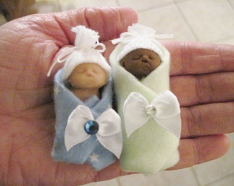 Polymer Clay Baby Bundled Baby Miniature